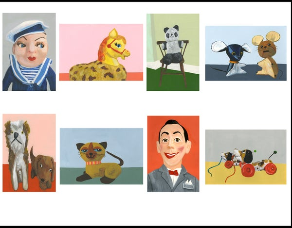 Image of From the Toy Box greeting cards.