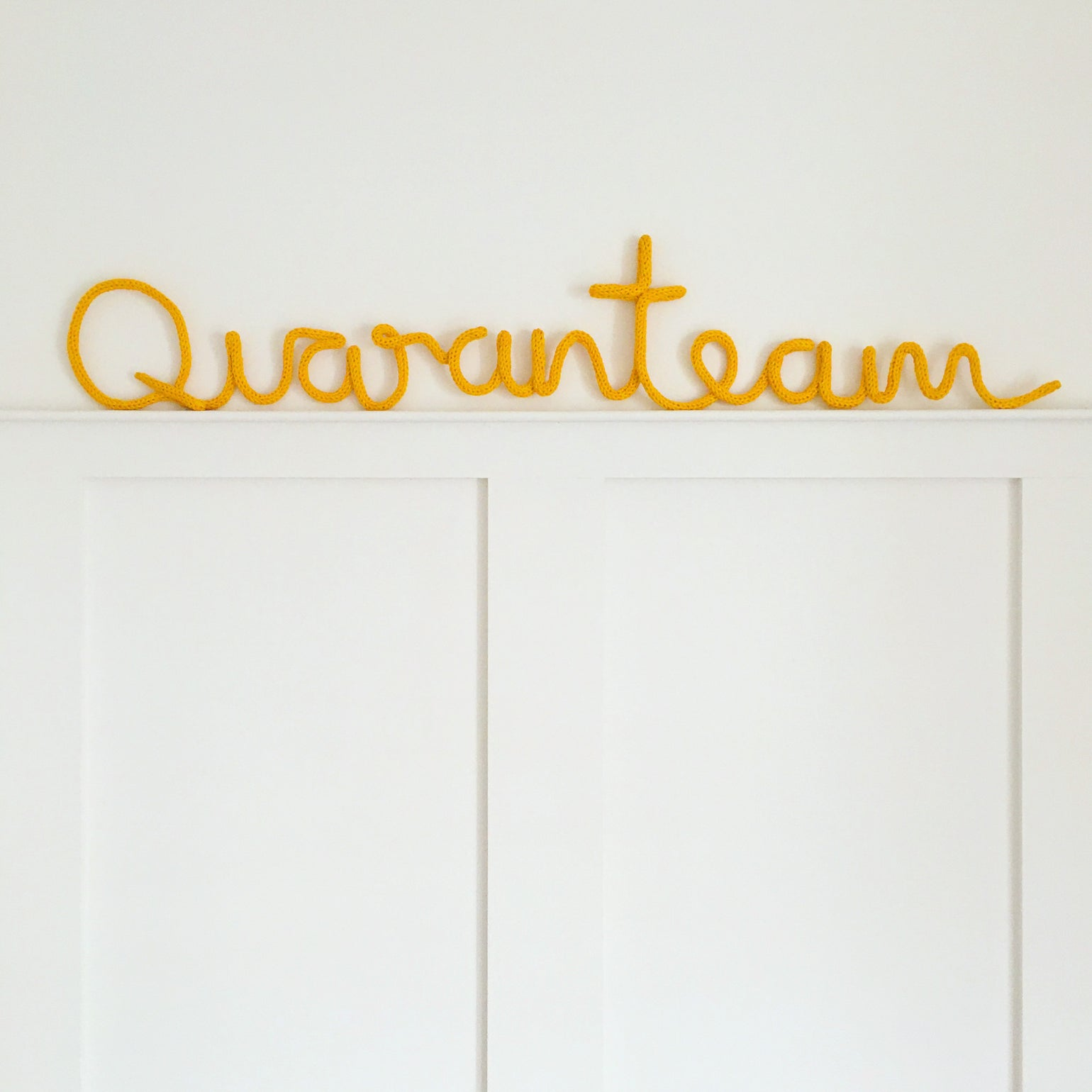Image of Quaranteam Knitted Wire Word