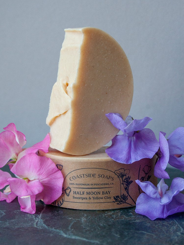 Image of Half Moon Bay Bar - Sweet Pea & Yellow Brazilian Clay Soap