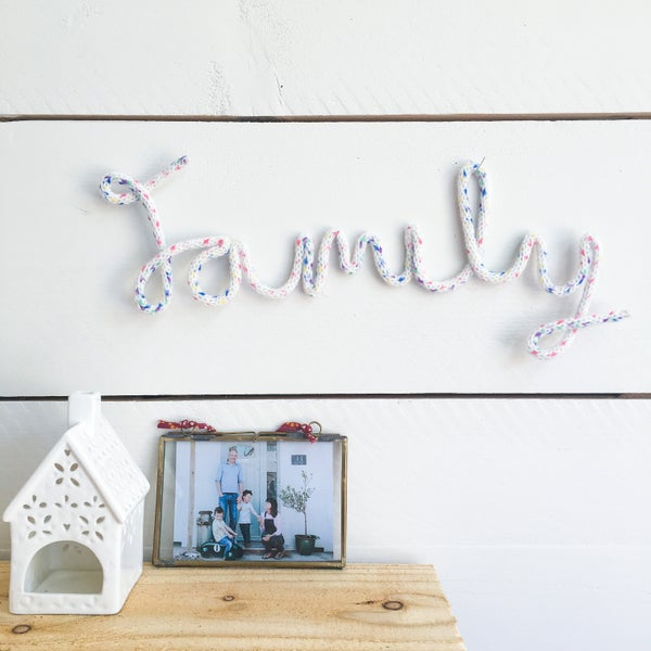Image of Family Knitted Wire Word