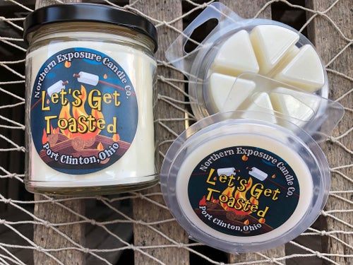 "Image of ""Let's Get Toated"" Soy blend candle & Melt"