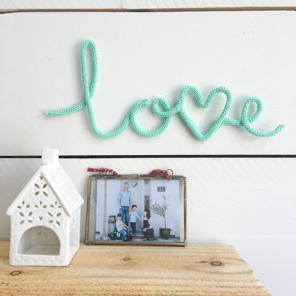 Image of Love Knitted Wire Word