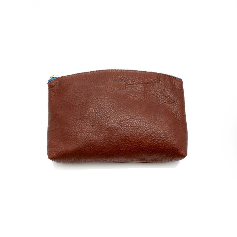 Image of BAGGU KNOT DETAIL LEATHER CLUTCH