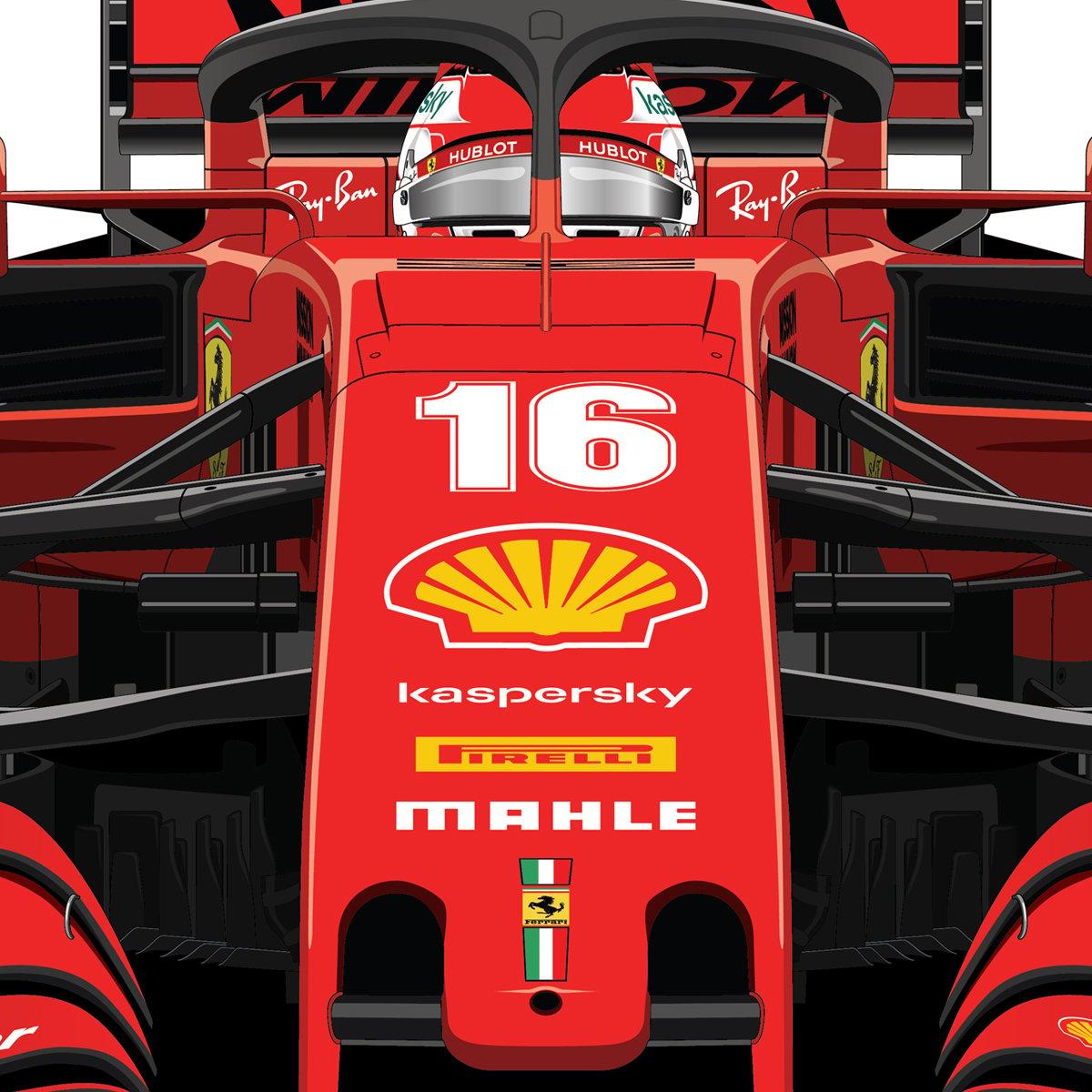 Charles Leclerc Ferrari Sf1000 D1 146 Drawonce