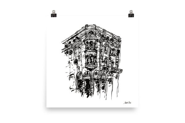 Image of Urban Inkscape 1 - Thessaloniki | Art Print