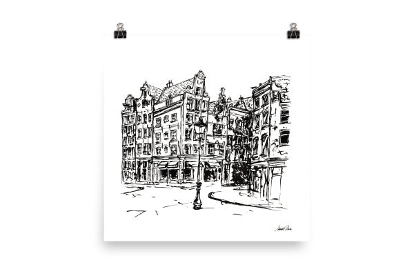 Image of Urban Inkscape 2 - Amsterdam | Art Print