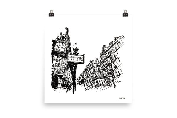 Image of Urban Inkscape 3 - Paris | Art Print