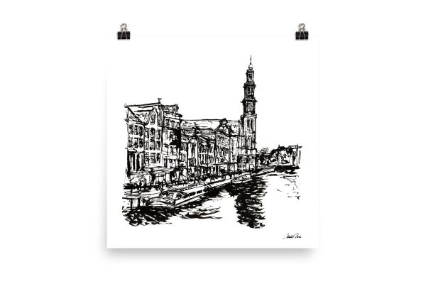 Image of Urban Inkscape 4 - Amsterdam | Art Print