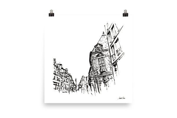 Image of Urban Inkscape 5 - Paris | Art Print
