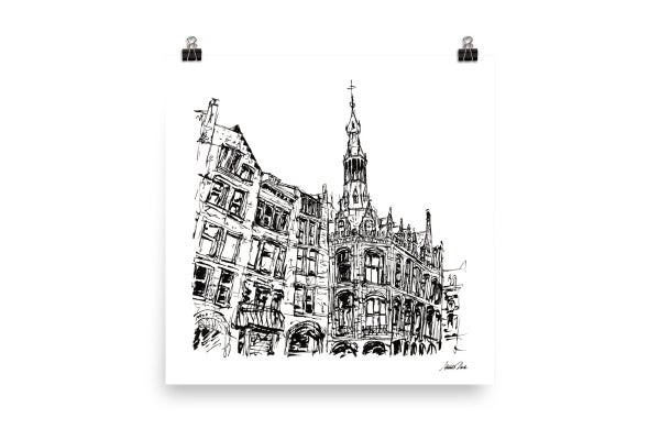 Image of Urban Inkscape 6 - Amsterdam | Art Print