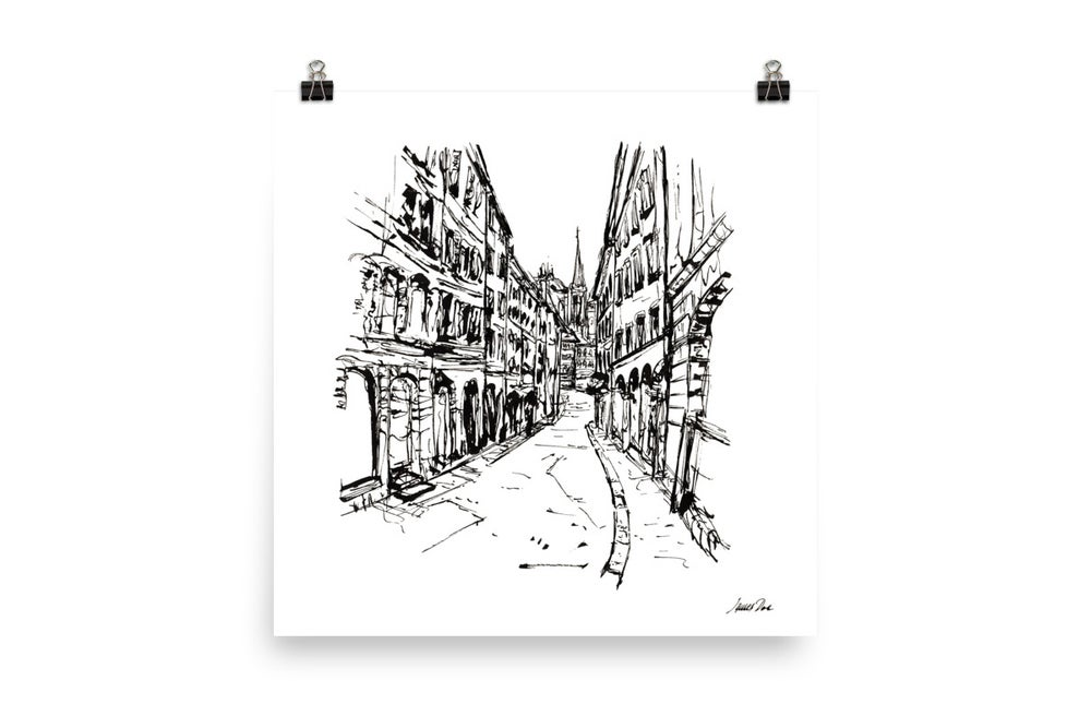Image of Urban Inkscape 8 - Geneva | Art Print