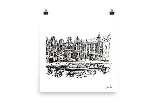 Image of Urban Inkscape 9 - Amsterdam | Art Print