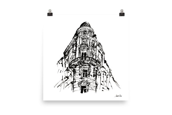 Image of Urban Inkscape 10 - Vienna | Art Print