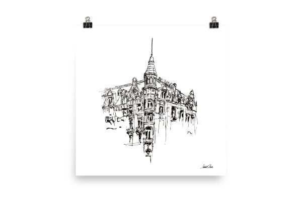 Image of Urban Inkscape 11 - Amsterdam | Art Print