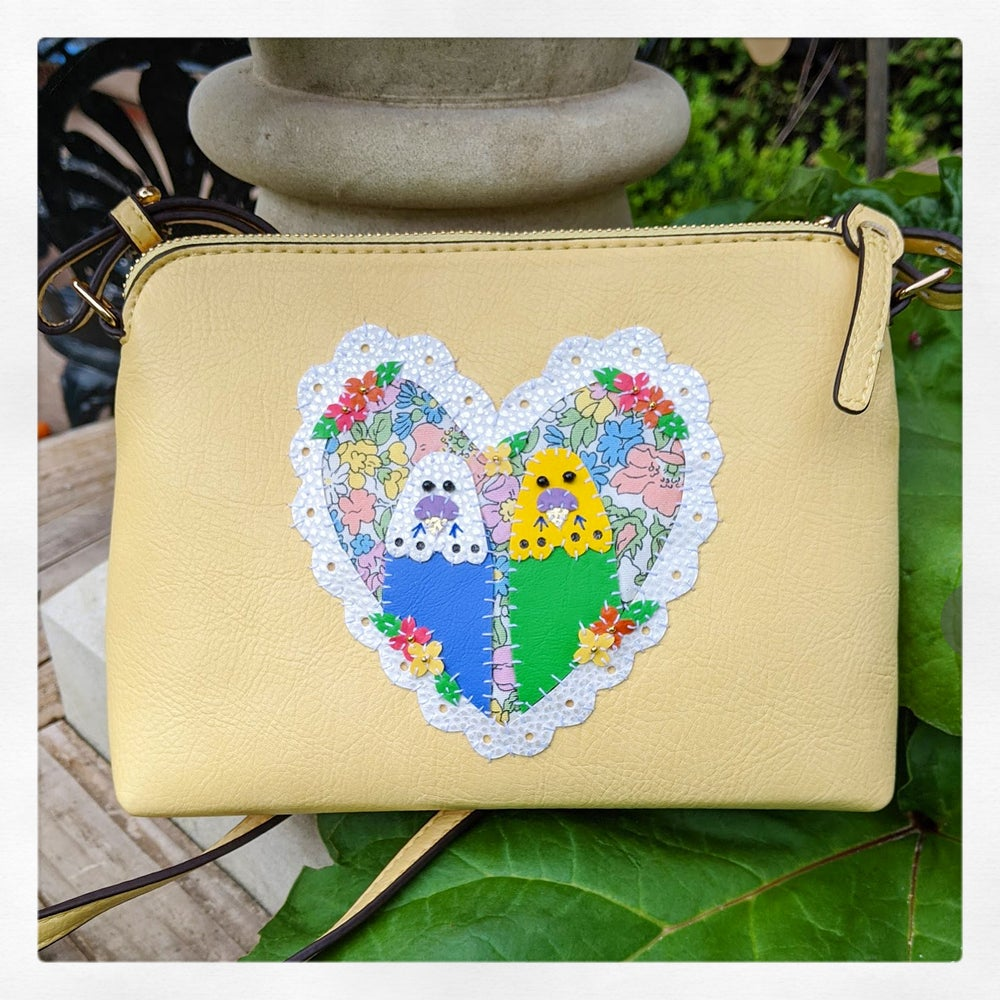 Image of Budgie Love Bag - Lemon