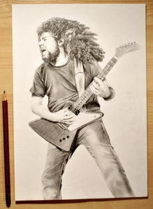 Image of Claudio Sanchez Pencil Portrait