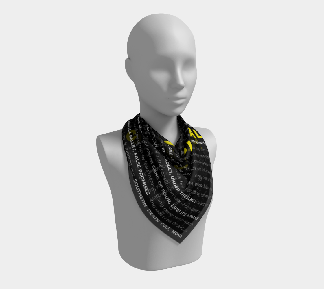 Image of Goth is Political Scarf