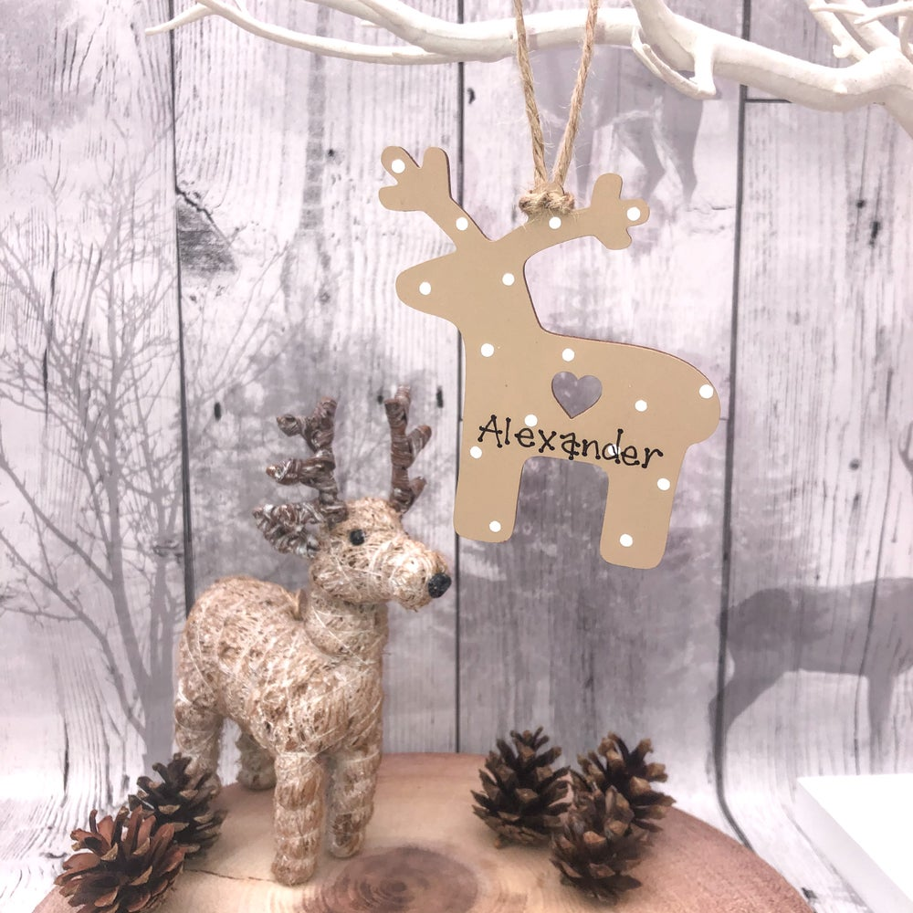 Image of Reindeer decoration (ANY WORDING)