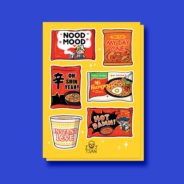 Image of Instant Noods A6 Sticker Sheet