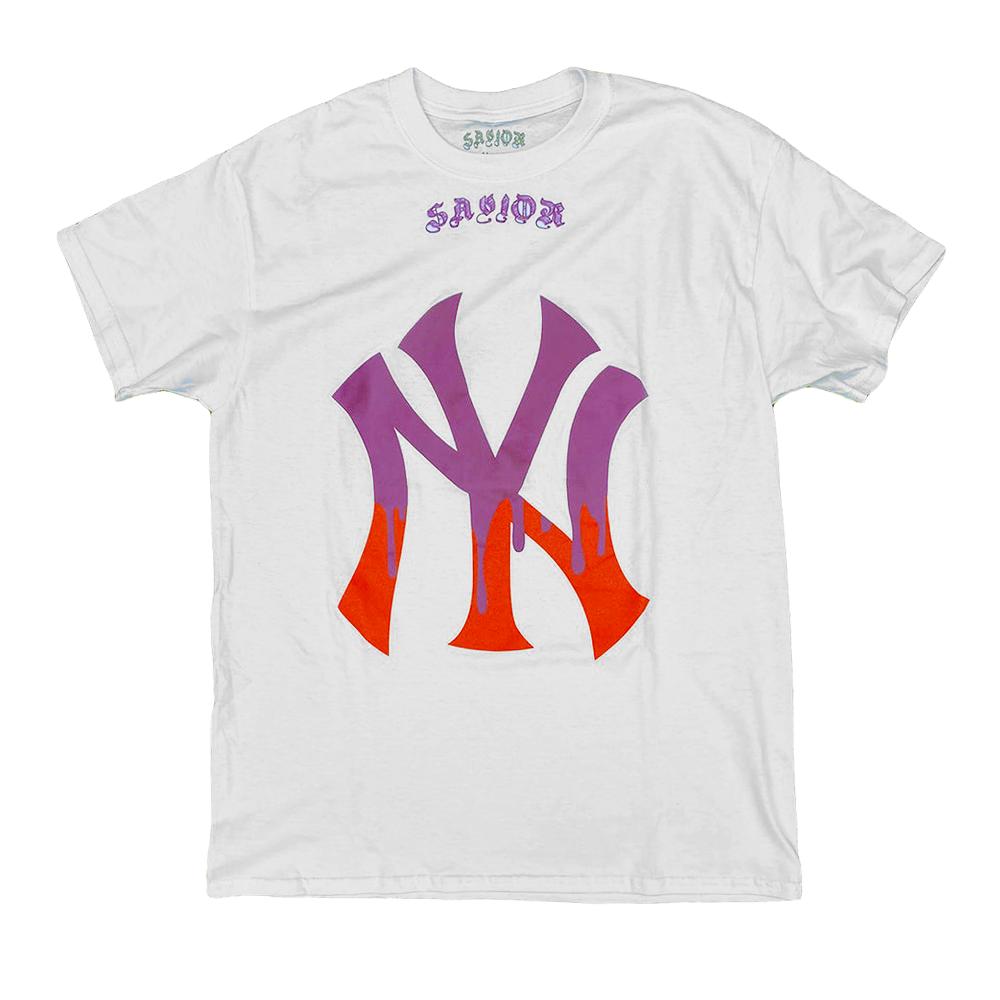 Image of Savior Yankee drip tee white