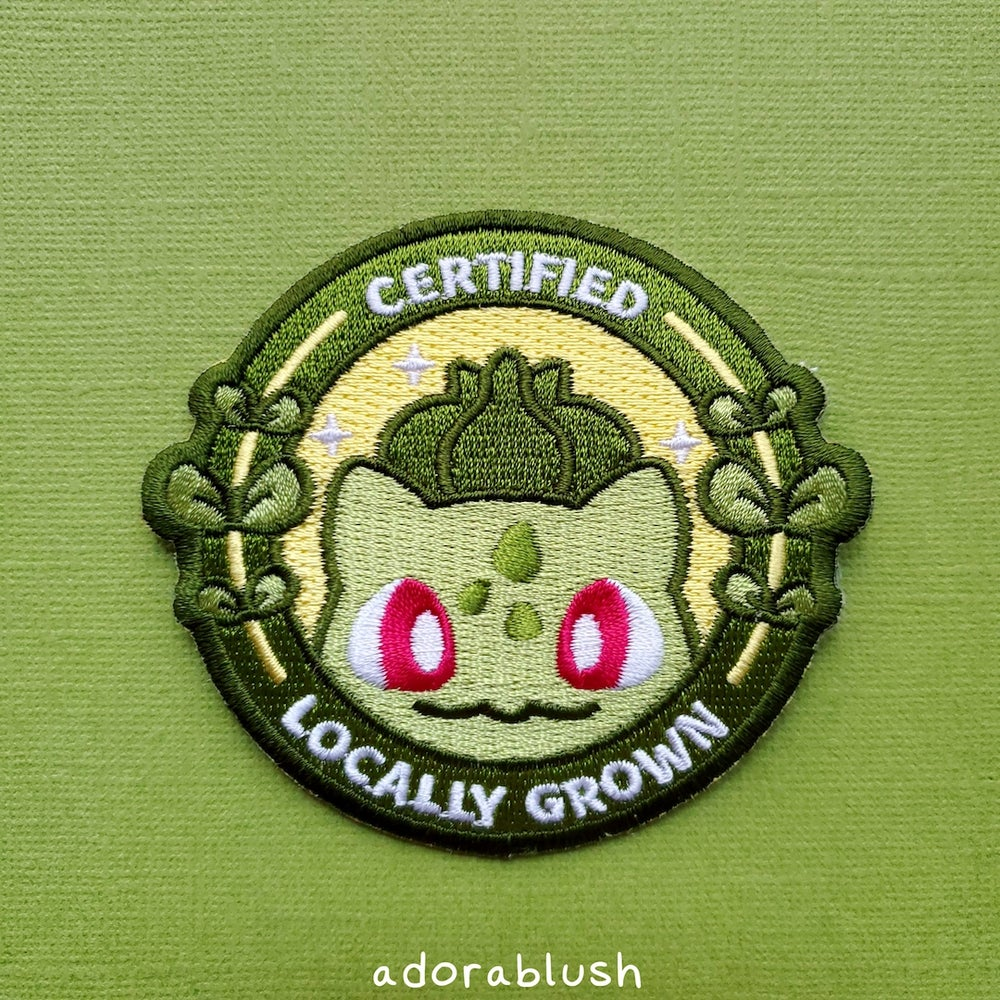 """Locally Grown"" - Embroidered Patch"