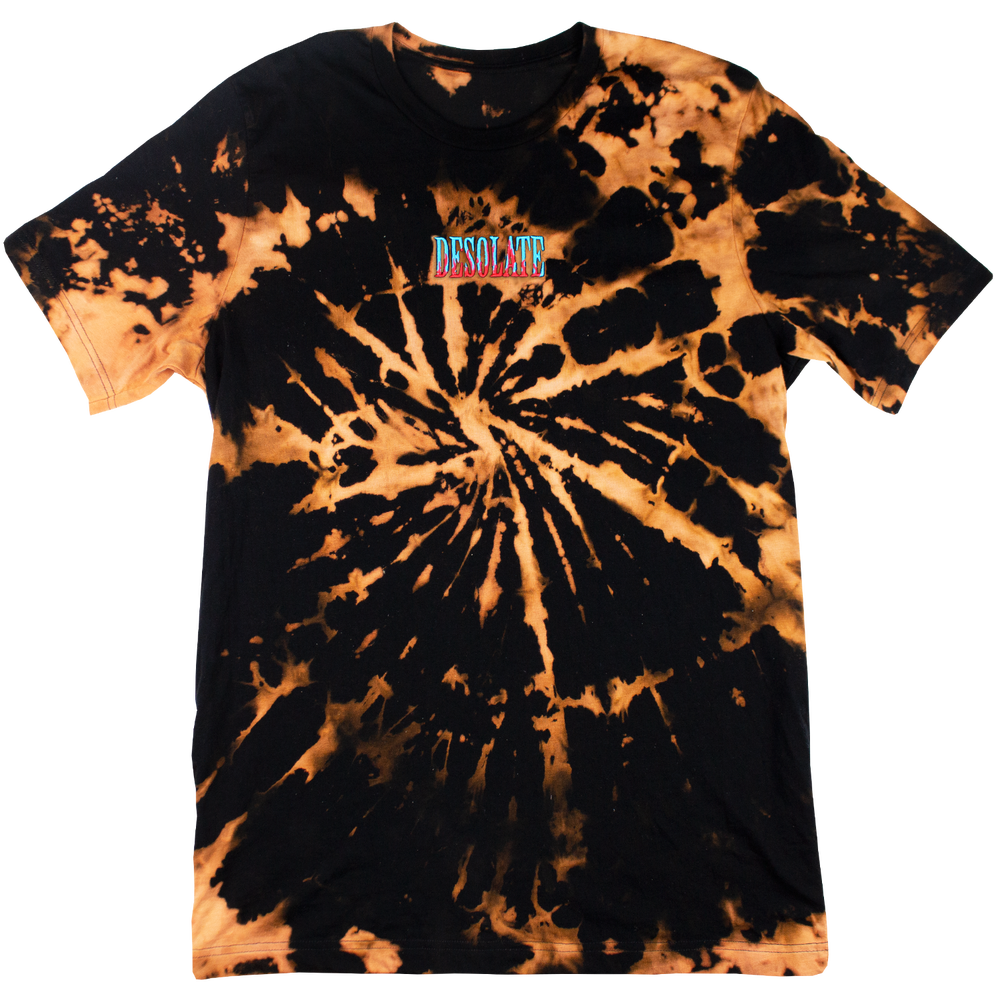 Image of Bleached Embroidered Flame Logo Tee