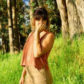 Image of Jungmaven Cropped Tank - Terracotta