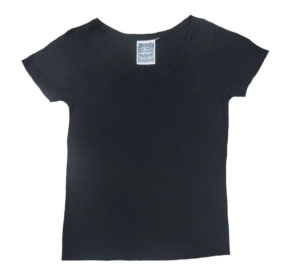 Image of Jungmaven Paige V-Neck - black