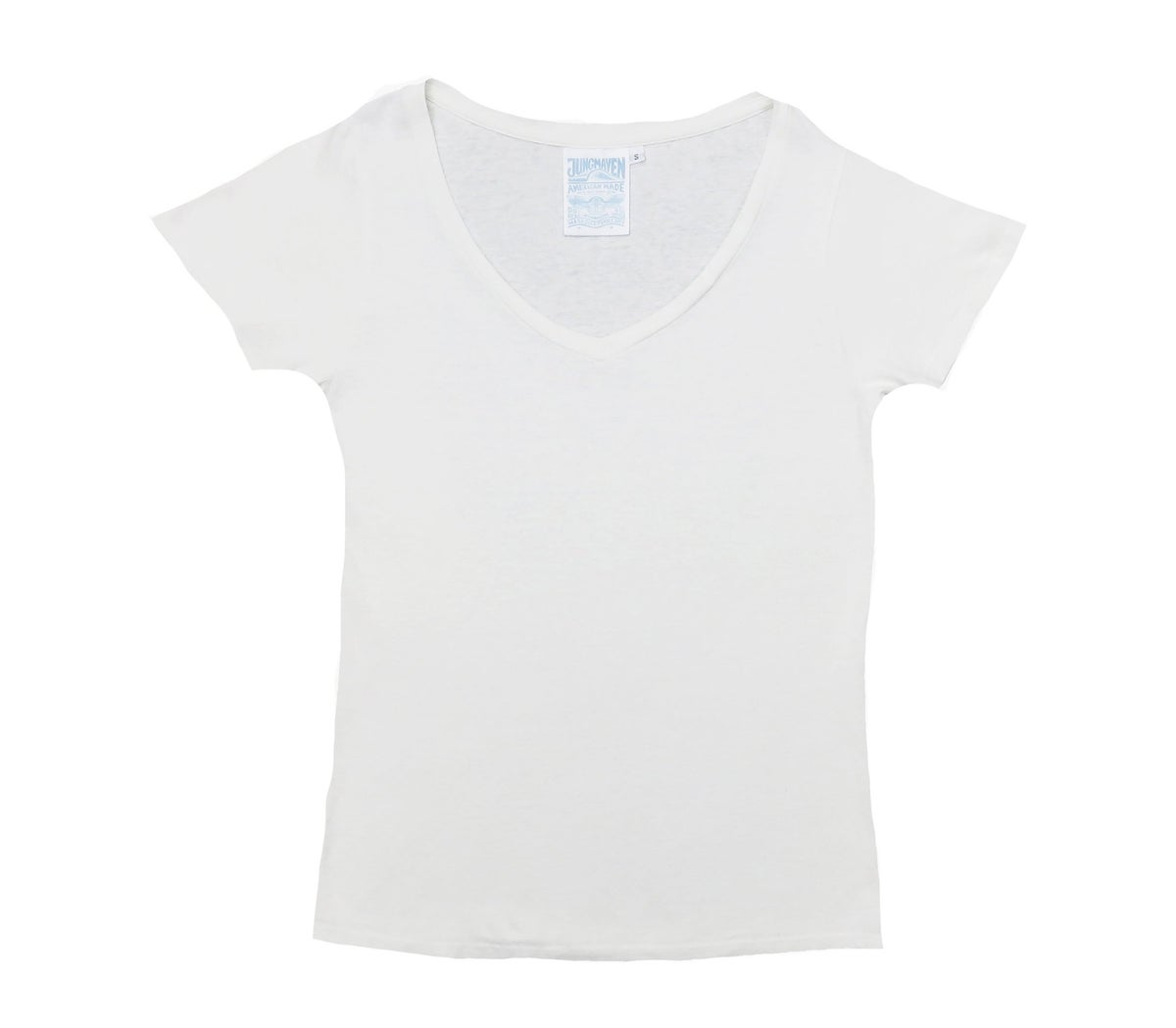 Image of Jungmaven Paige V-Neck - Optic White