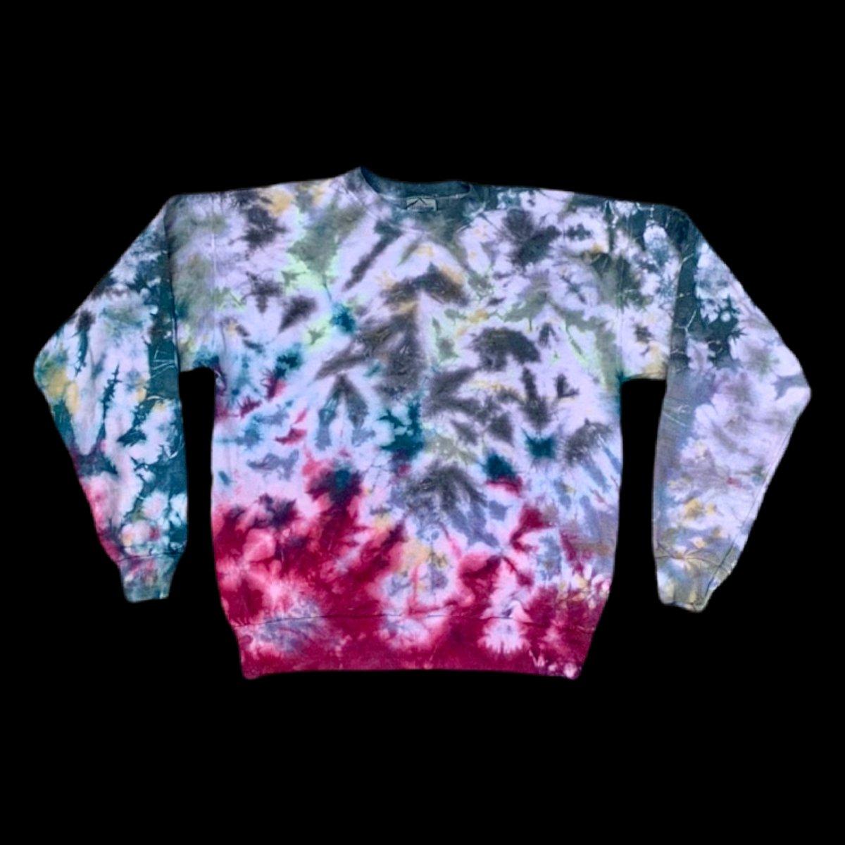 Vintage 90's Tie Dyed Crewneck Sweatshirt! - Medium