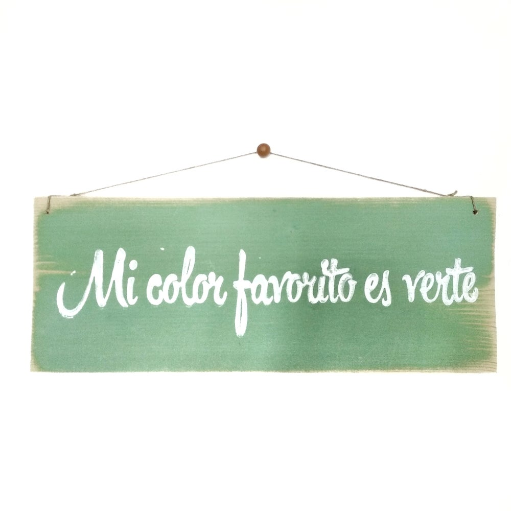 Image of Mi color favorito es verte