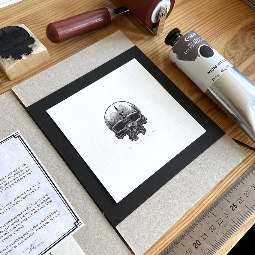 Image of 'The Dead Can't See' handmade print