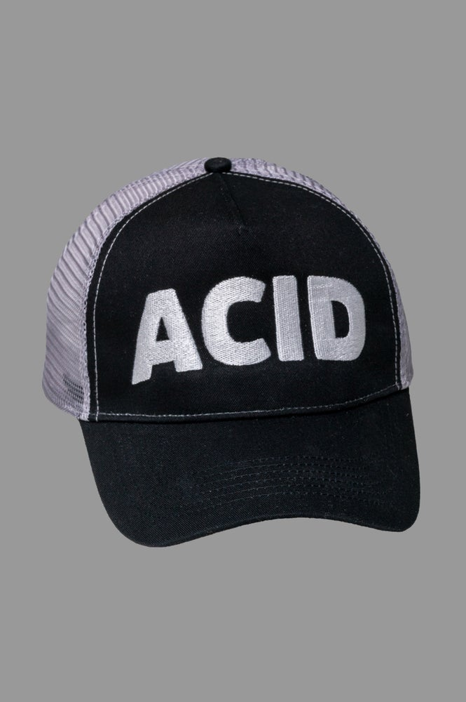 Image of Trucker Cap - Acid Black/Grey