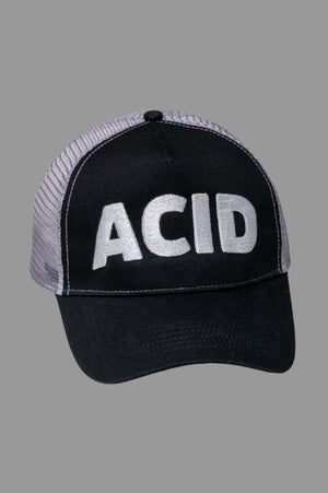 Image of Trucker Cap - Acid Black/Grey