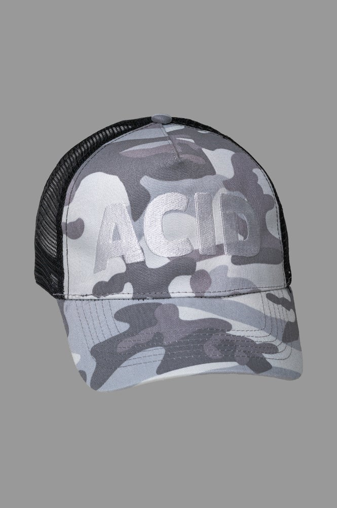 Image of Trucker Cap - Acid Arctic Camo