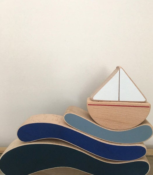Image of The wandering workshop - Boat & Waves stacking toy