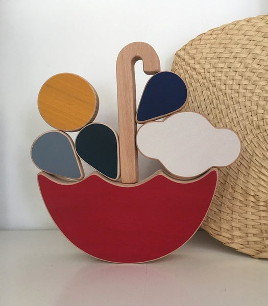 Image of The wandering workshop - Red Umbrella balance & stacking toy