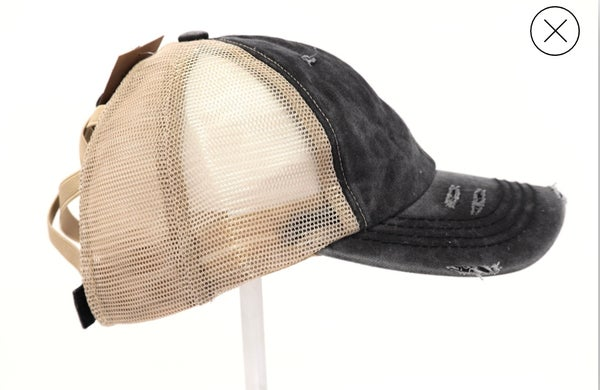 Image of Criss Cross Pony tail Hat