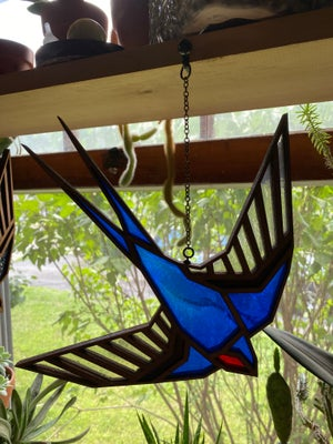 Image of Faux Stained Glass - Barn Swallow