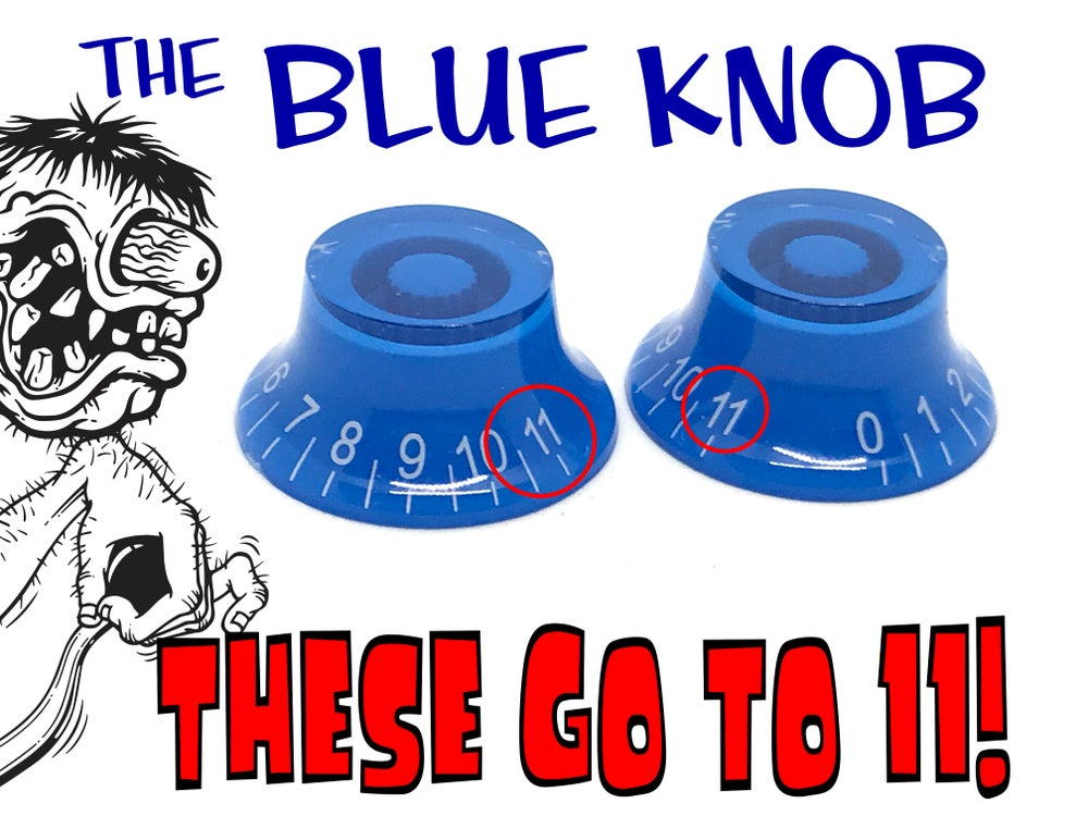 Image of FLASH SALE:  2pc. Blue Knobs - They go to 11!  (plus free Poor Man's Guide)