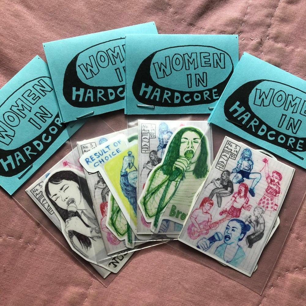 Image of Women In Hardcore sticker pack