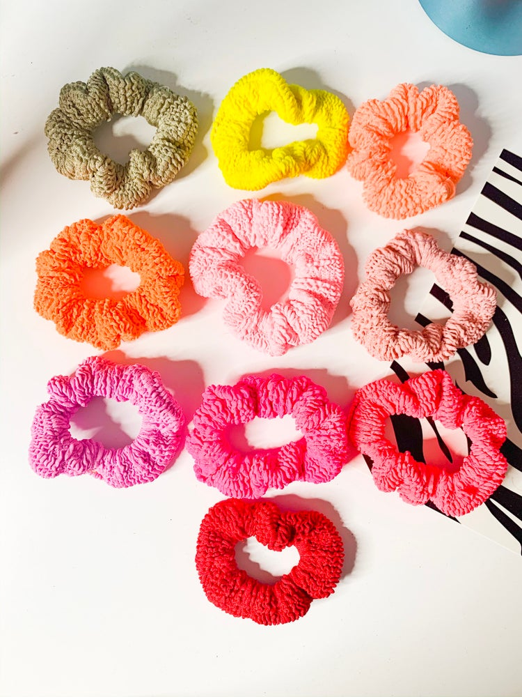 Image of Crinkle Scrunchie - Warm Tones
