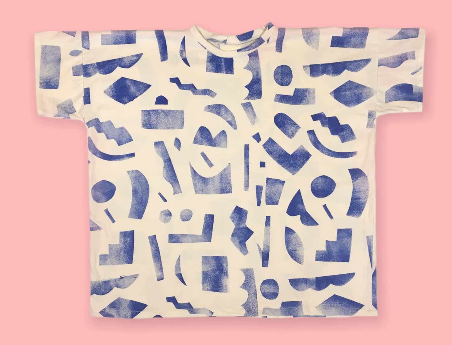 Image of SHORT SLEEVE UNISEX TSHIRT / stencil paint