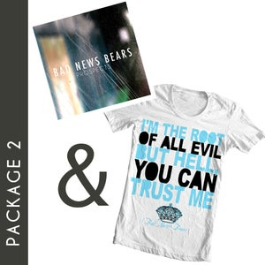 "Image of Package 2: ""Root Of All Evil"" T-Shirt & ""Prospects"" CD"