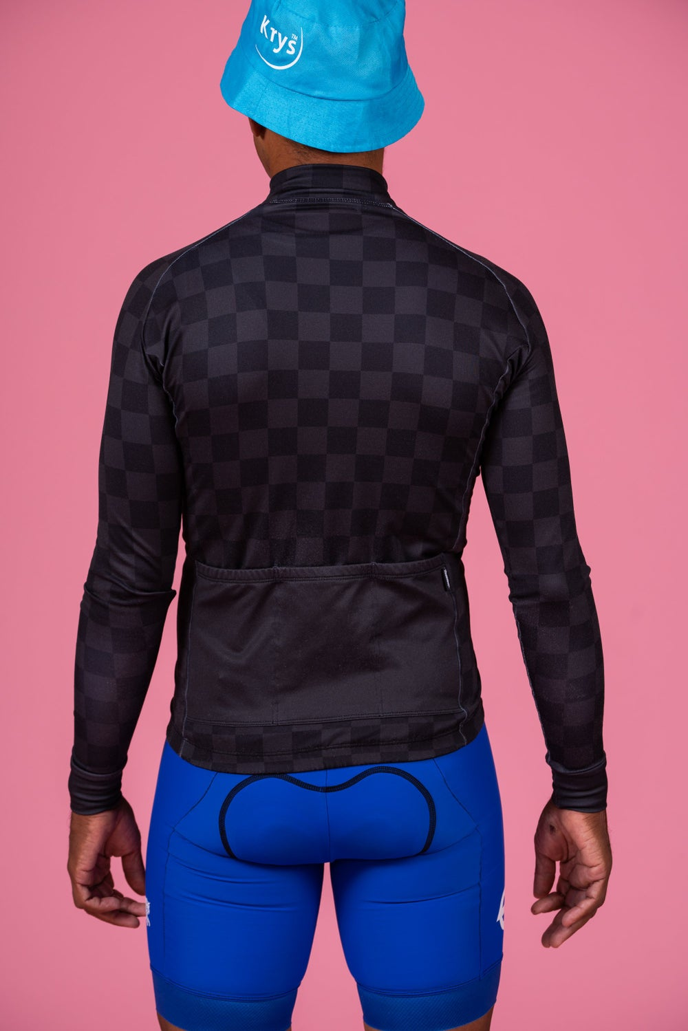 Charcoal Check Long Sleeve Jersey