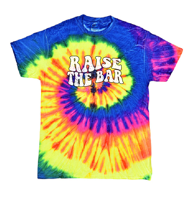 Image of Raise The Bar Vintage Design - Tie Dye NEON (NEON RAINBOW)