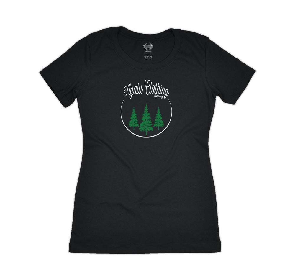 "Image of ""Roots"" Tee Women's - Black"