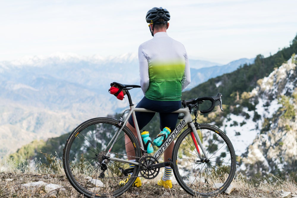 White to Green Fade Long Sleeve Jersey (Small)