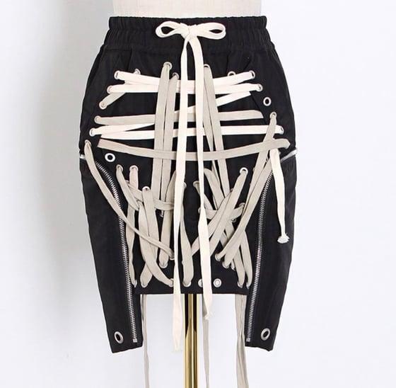Image of Lace Biker Skirt