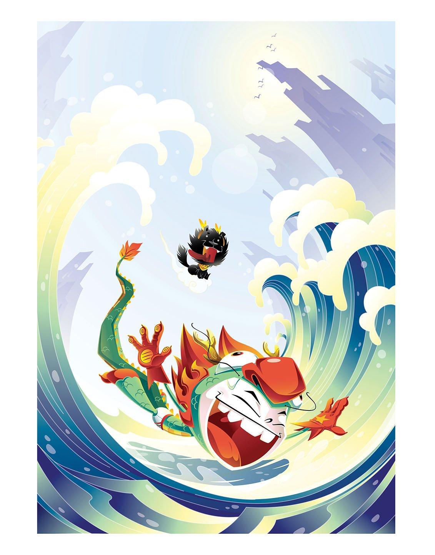"Dragon Boy Splash 11 x 14"" Print"
